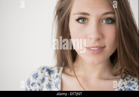 Portrait of a happy teenage girl - Stock Photo