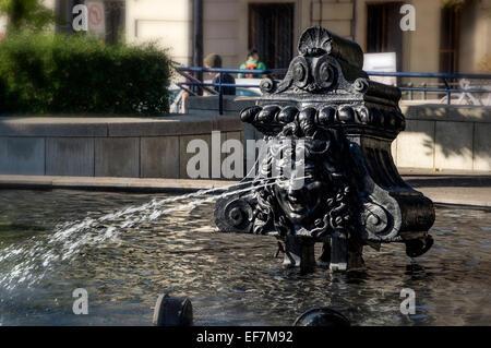 Tinguely Fountain, Basel, Switzerland - Stock Photo