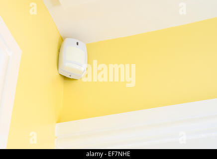 Motion Sensor Detector part of a Home Burglar System PROPERTY RELEASED - Stock Photo