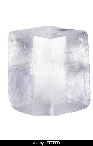 Rock crystal on a white background with clipping path - Stock Photo