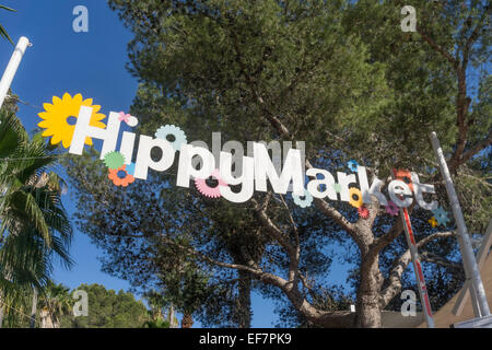 Hippy market , Punta Arabi, Eivissa, Ibiza, Spain - Stock Photo