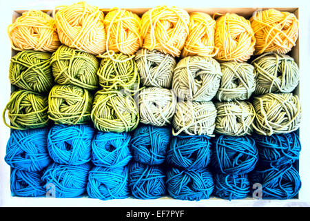 Skeins of yarn wool - Stock Photo
