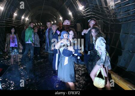 FLOOD VICTIMS METRO (2013) - Stock Photo