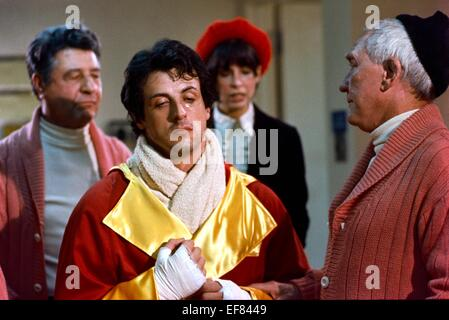 BURGESS MEREDITH & TALIA SHIRE ROCKY III (1982 Stock Photo: 78316377 - Alamy