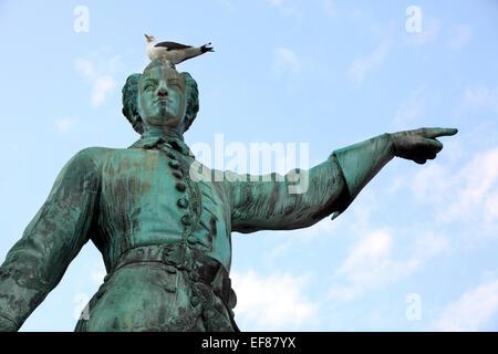 Statue of Karl XII king of Sweden in stockholm. Sweden. - Stock Photo