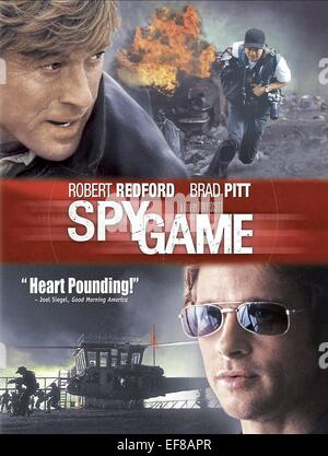 ROBERT REDFORD & BRAD PITT POSTER SPY GAME (2001) - Stock Photo