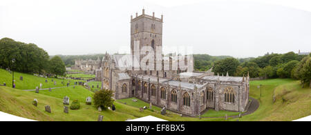 St David's Cathedral, Pembrokeshire, Wales - Stock Photo