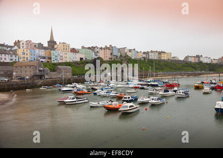 The harbour in Tenby, Pembrokeshire, Wales - Stock Photo