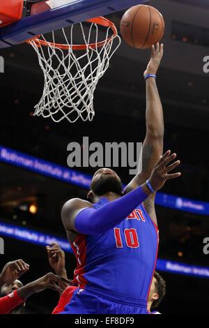 Philadelphia, Pennsylvania, USA. 28th January, 2015. Philadelphia, Pennsylvania, USA. 28th Jan, 2015. Detroit Pistons - Stock Photo