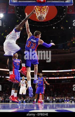 Philadelphia, Pennsylvania, USA. 28th January, 2015. January 28, 2015: Philadelphia 76ers forward Jerami Grant (39) - Stock Photo