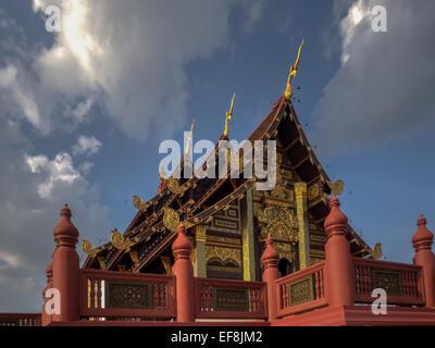 Pavilion at Royal Flora Ratchaphruek, Chiang Mai, Thailand - Stock Photo