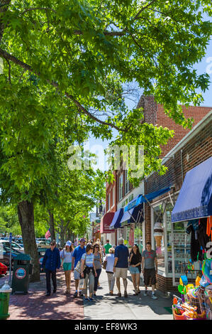 Main Street in the village of Southampton, The Hamptons, Suffolk County, Long Island , NY, USA - Stock Photo