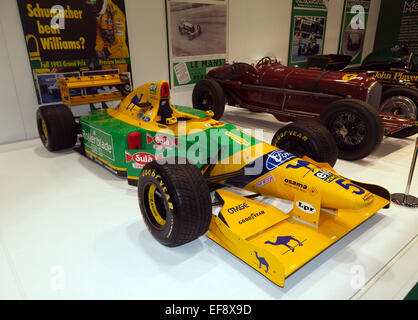 Michael Schumacher's 1993 Benetton B193: designed by Ross Brawn, Schumacher regularly out qualified  Senna in this - Stock Photo
