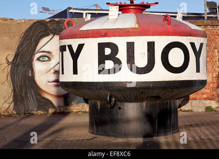 Street art at Trinity Buoy Wharf, London - Stock Photo