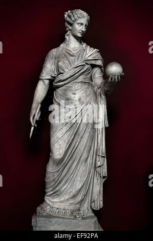 Urania, Muse of astronomy. Marble, head and torso: Roman copies after Greek originals from the 4th century BC, ( - Stock Photo