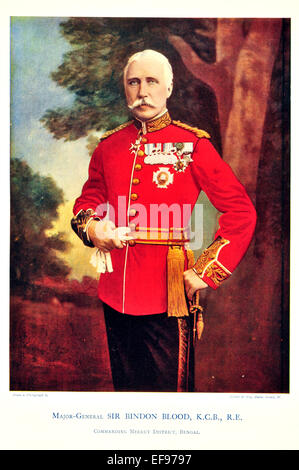 Celebrities of the Army 1900 Major General Sir Bindon Blood K C B R E Commanding Meerut District Bengal - Stock Photo