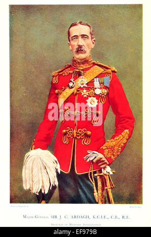 Celebrities of the Army 1900 Major General Sir J C Ardagh K C I E C B R E Director of military Intelligence - Stock Photo