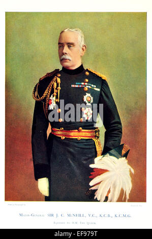 Celebrities of the Army 1900 Major General Sir J C McNeill V C K C B K C M G Equerry to H M Queen - Stock Photo