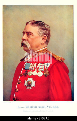 Celebrities of the Army 1900 General Sir Hugh Gough V C G C B Keeper of the Jewels Tower of London - Stock Photo