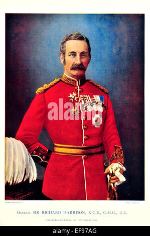 Celebrities of the Army 1900 General Sir Richard Harrison K C B C M G R E Inspector General of Fortifications - Stock Photo