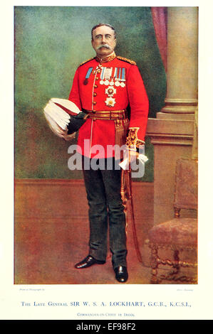 Celebrities of the Army 1900 General Sir W S A Lockhart G C B K C S I Commander in Chief India - Stock Photo