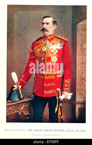 Celebrities of the Army 1900 Lieutenant General  Sir Baker Creed Russel G C B K C M G Commanding Southern District - Stock Photo