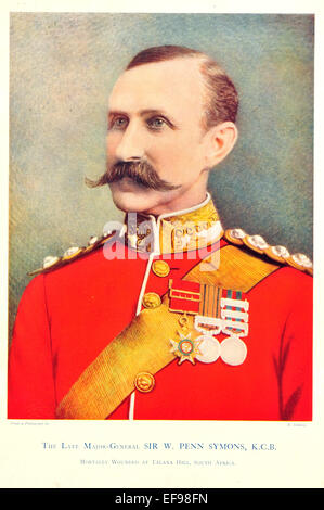 Celebrities of the Army 1900 Major General Sir Penn Symons K C B Mortally wounded Talana Hill South Africa - Stock Photo