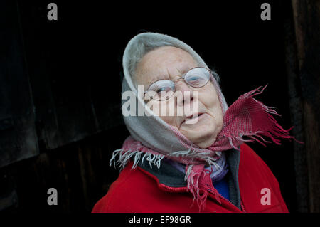 A respected village lady - Stock Photo
