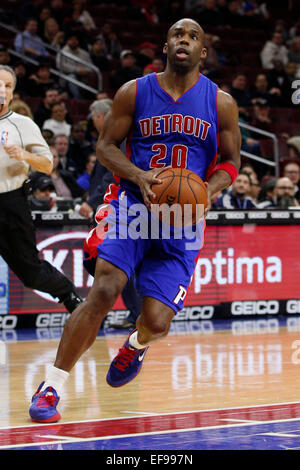 January 28, 2015: Detroit Pistons guard Jodie Meeks (20) in action during the NBA game between the Detroit Pistons - Stock Photo