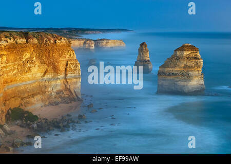 Famous Twelve Apostles in afterglow.