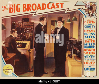 The Big Broadcast - Movie Poster - Stock Photo