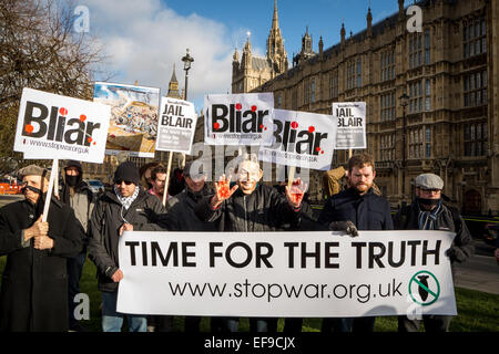 London, UK. 29th Jan, 2015.  Protest against the Iraq inquiry delay outside Westminster Credit:  Guy Corbishley/Alamy - Stock Photo