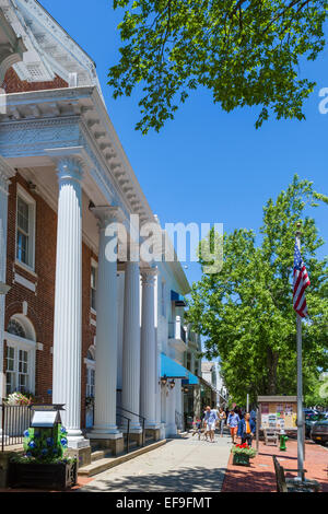 Village Hall on Main Street in the village of Southampton, Suffolk County, Long Island , NY, USA - Stock Photo