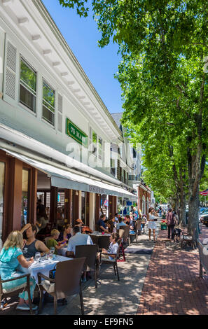 Restaurant on Main Street in the village of Southampton, The Hamptons, Suffolk County,  Long Island , NY, USA - Stock Photo