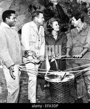 HARI RHODES, MARSHALL THOMPSON, CHERYL MILLER, YALE SUMMERS, DAKTARI, 1966 - Stock Photo