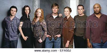 FREDDY RODRIGUEZ RACHEL GRIFFITHS PETER KRAUSE FRANCES CONROY MICHAEL C. HALL & MATHEW ST. PATRICK SIX FEET UNDER - Stock Photo