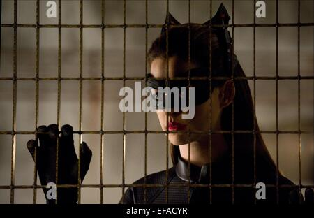 ANNE HATHAWAY THE DARK KNIGHT RISES (2012) - Stock Photo