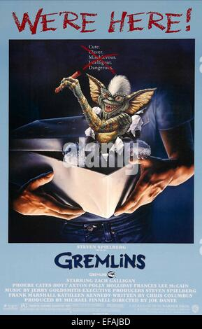 MOVIE POSTER GREMLINS (1984) - Stock Photo