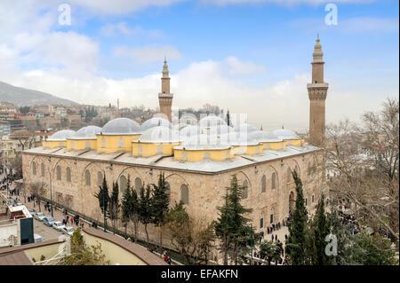 Bursa Grand Mosque Turkish Ulu Cami is the biggest historical mosque in Bursa, Turkey built in 1399 - Stock Photo