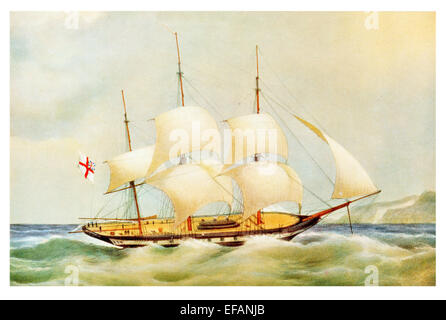 H.M. Sloop Dido 18 gun. A Symondite Corvette 1836. Served Syria 1840 and China 1842 became coal hulk in Medway sold - Stock Photo