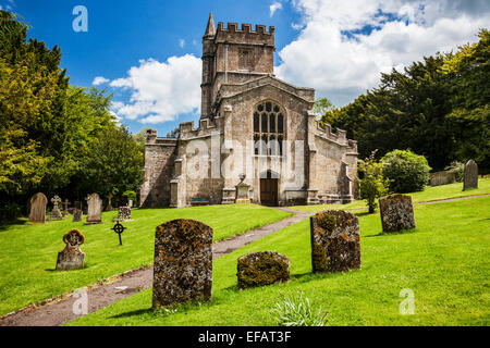 A typical English country church in the Wiltshire village of Bratton. - Stock Photo