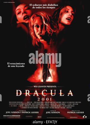 movie poster dracula 2000 dracula 2001 2000 stock photo