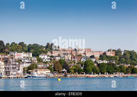 Dartmouth Naval  College Collage from the River Dart - Stock Photo