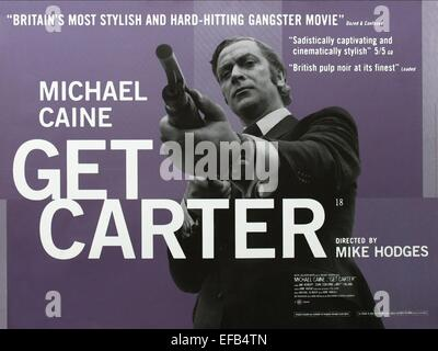 MICHAEL CAINE POSTER GET CARTER (1971) - Stock Photo