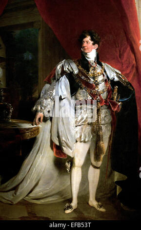 The Prince Regent, later George IV King of England (1762-1830) in his Garter Robes, 1816 Lawrence, Sir Thomas (1769 - Stock Photo
