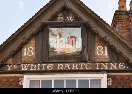 Old pub sign. Cuckfield. West Sussex. England. UK - Stock Photo