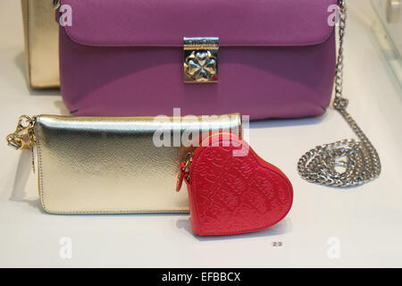 Regent Street, London, Uk. 30th January 2015. Shop windows in London's West End have a Valentine's Day theme. - Stock Photo