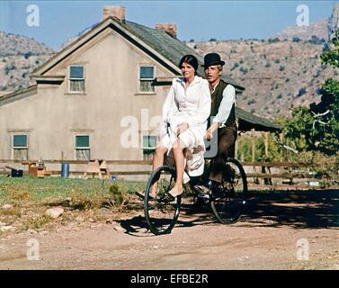 KATHARINE ROSS, PAUL NEWMAN, BUTCH CASSIDY AND THE SUNDANCE KID, 1969 - Stock Photo
