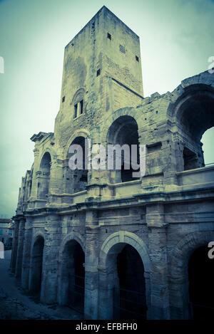 Roman Amphitheatre, Arles, France - Stock Photo