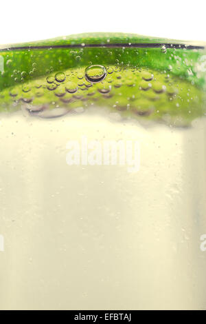 Lime Topped Refreshing Drink - Stock Photo